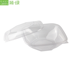 Fruit Salad Bowl PLA Plastic Disposable For Crystal Clear Recycling Packaging