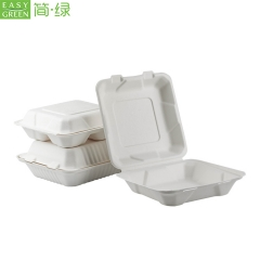 Bagasse Disposable Clamshell Lunch Box