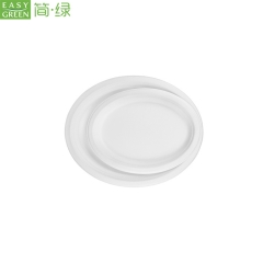 Disposable Oval Shaped Dinner Paper Plates For Restaurant
