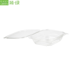 PLA Plastic Clamshell Salad Box For Bio-degradable Fruit Container