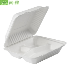 Paper Sugarcanel Fiber Clamshell Food Container Boxes