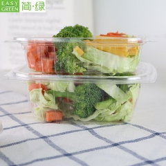 Plastic Transparent Salad Bowl Takeout For Dry Fruit