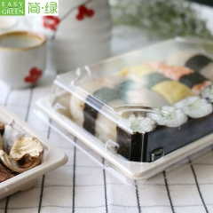 Biodegradable Recycled Paper Bagasse Sushi Pulp Tray For Food