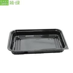 Rectangular Disposable Plastic PP Food Containers Packaging With Lid