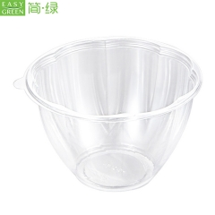 Reusable Clear Plastic Salad Bow With Lid