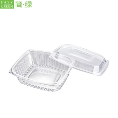 Transparent Salad Plastic Packaging Container For High Durability PS Material