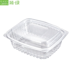 Recyclable Plastic Salad Dry Fruit Packing Containers Box Wholesale