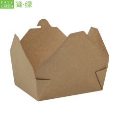 PK-34 Takraway Packaging Kraft Paper Lunch Box