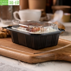 J-8525 Disposable Plastic Take Away Lunch Container Bento Box
