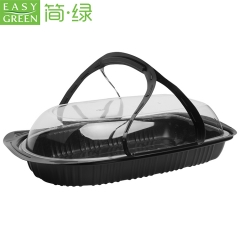 Easy Green disposable PP roast cook chicken takeaway plastic box